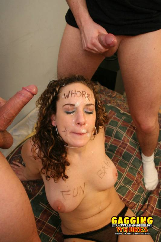 Blow cum glory hole job