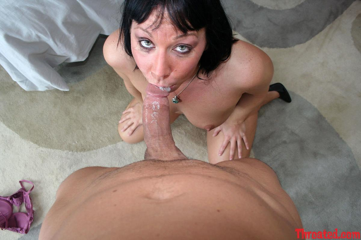 Deep throating huge cock and riding