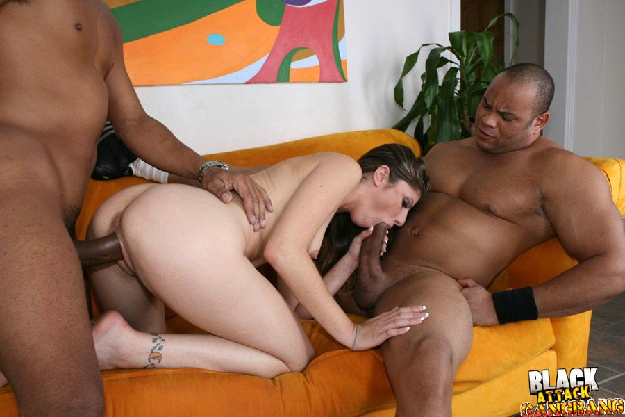Black cock gangbang whore