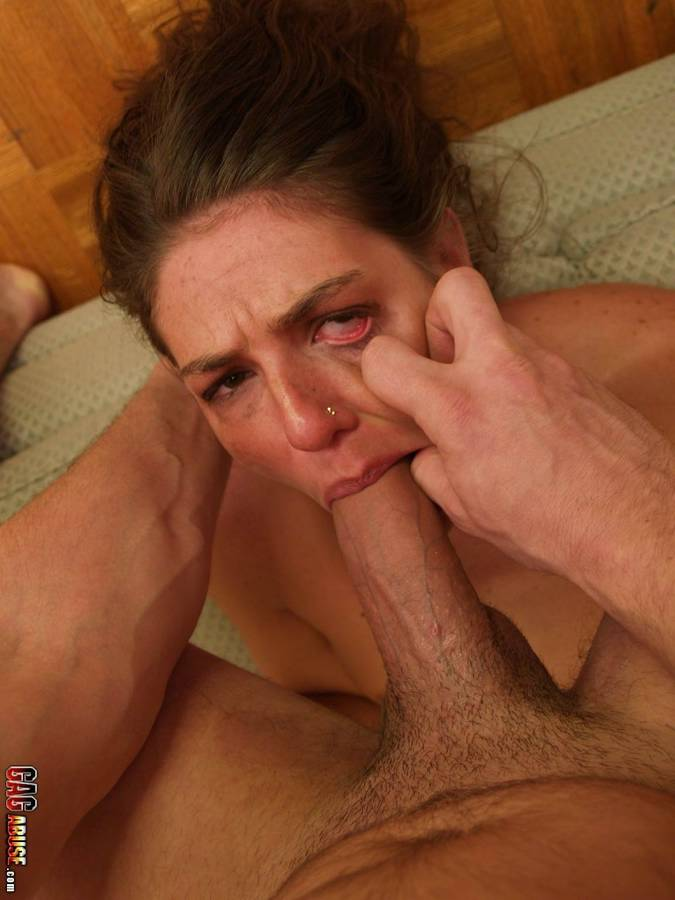 Throat fucked whore